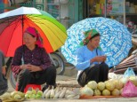 fruits, umbrellas...